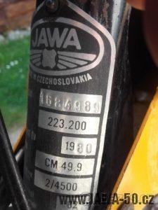 Jawa 50 typ 223.200 Mustang se sníženým výkonem, vývoz do Maďarska
