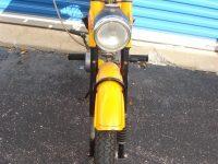 Vývozní (exportní) motocykl Jawa 50 typ 23 Golden Sport - přední světlomet Aprilia se sealed beam vložkou Bosch