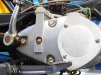 Vývozní (exportní) motocykl Jawa 50 typ 23 Golden Sport - motor a páka zadní brzdy