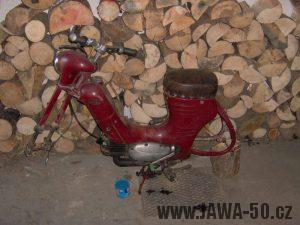 Jawa 550 Pionýr z roku 1958 - rozebírání