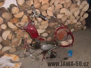 Jawa 550 Pionýr z roku 1958 - rozborka