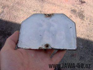 Jawa 550 Pionýr z roku 1958 - registrační značka