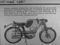 Dobový článek ze Světa Motorů o motocyklu Italjet 50 Mustang