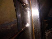 Jawa 05 Pionýr - chromovaný ráfek kola s matným středem a zlatými linkami