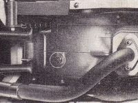 Jawa 05 Pionýr - prototypový válec s pootočenou přírubou výfuku - kresba z návodu k obsluze