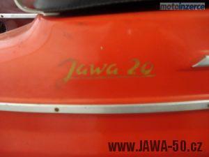 Jawa 50 typ 20 Pionýr z roku 1974 - nápis na zadním blatníku
