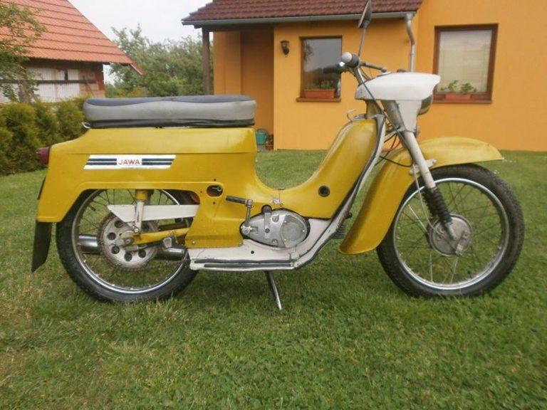 Motocykl Jawa 50 typ 20 Pionýr z roku 1975