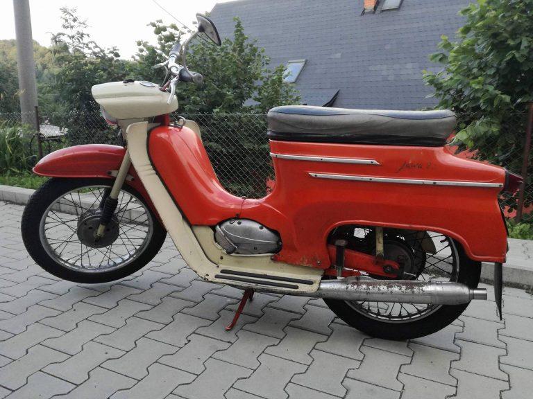 Motocykl Jawa 50 typ 20 Pionýr z roku 1969 (druhá výrobní etapa)