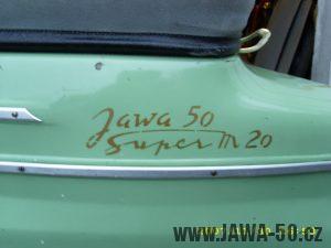 Jawa 50 Super M20 - vývozní verze do Maďarska