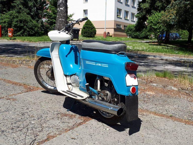 Motocykl Jawa 50 typ 220 Pionýr z roku 1980 (pátá výrobní etapa)