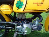 Exportní Jawa 23 Golden Sport - umístění baterie