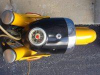 Jawa 50 typ 23A Golden Sport se světlometem Aprilia a starším tachometrem PAL