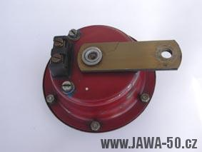 Starší provedení 4,5V houkačky Jawy 550