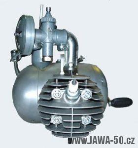 Motor Jawa 550 s karburátorem Jikov 2914 Hz