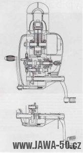 Rozdíly motoru Jawa 550 se šlapátky
