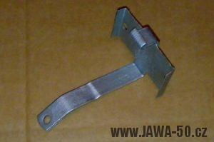 Jawa 550 Pionýr (pařez) - druhá varianta držáku baterií napájejících klakson
