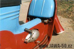 Dochovaný prototyp Jawa 550 skútr z roku 1956
