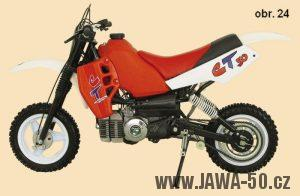 Motocykl (mokick) Manet Korado CT50 s motorem Puch SuperMaxi