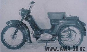 Pražský prototyp motocyklu Jawa 555 se šlapátky