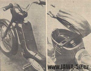 Prototyp motokola Jawa 359 s řazením otočnou levou rukojetí