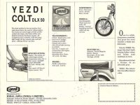 Motocykl Yezdi Colt DLX - prospekt