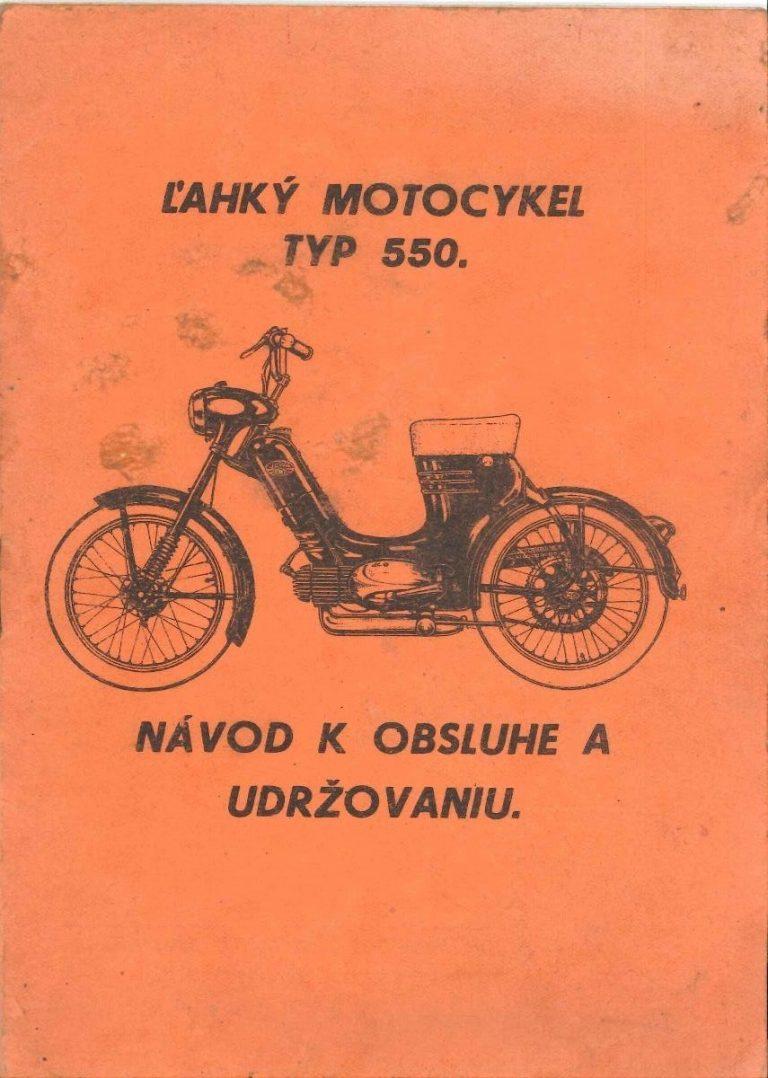 Motocykl Jawa 550 Pionýr - Technický popis a návod k obsluze (1957)