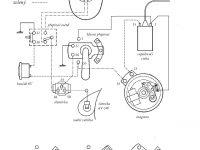 Schéma zapojení elektroisntalace motocyklu Jawa 555 Pionýr (1958-1962)