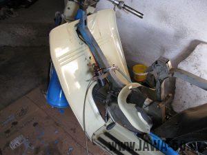 Motocykl Jawa 05 z roku 1962 v původním stavu - revmaplech + tunel