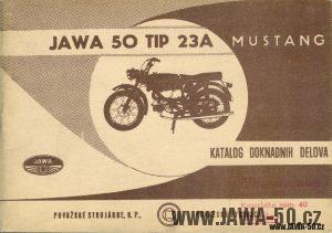 Katalog náhradních dílů Jawa 50 typ 23A Mustang v Chorvatštině