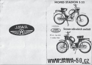 Moped Stadion S22 s motorem Jawa 552 - Seznam náhradních součástí