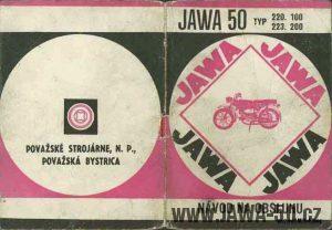 Návod k obsluze motocyklů Jawa 50 typ 220.100 a 223.200