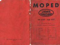 Návod k obsluze Jawa 551 Jawetta