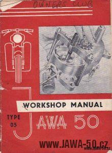 Dílenská příručka Jawa 05 Pionýr (Workshop manual Jawa 50 type 05)