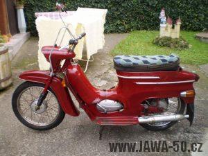 Vývozní motocykl Jawa 05 Pionýr z roku 1963 pro USA a Kanadu