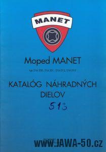 Moped Manet 216 Korado - katalog náhradních dílů