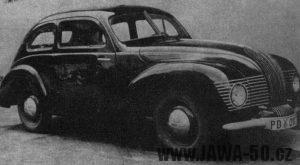 Prototyp automobilu Jawa Minor II z období 2. sv. války