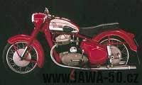 Mdernizovaný motocykl Jawa 500 OHC typ 15/02