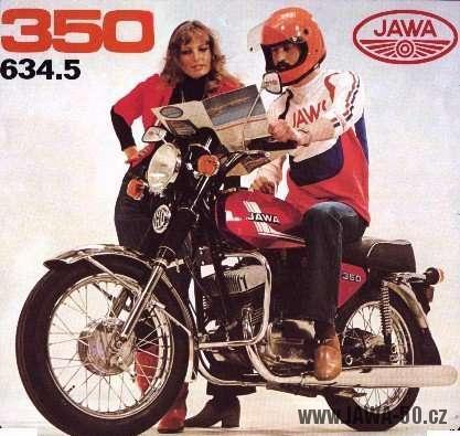 Exportní motocykl Jawa 350 typ 634.5