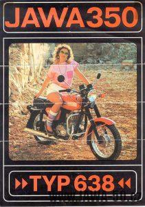 Motocykl Jawa 638 dobový prospekt