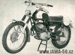 Terénní Jawa 250 s níž Jaromír Čížek získal v roce 1958 titul mistra Evropy