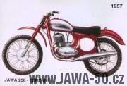 Terenní Jawa 250 Čížkový éry v prodejní úpravě