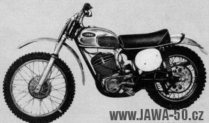 Terénní motocykl Jawa 420 z roku 1969