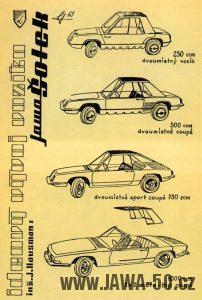 Ideový návrh vozítek Jawa Šotek z roku 1963