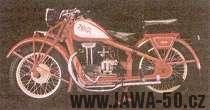Motocykl Jawa 500 OHV Rumpál