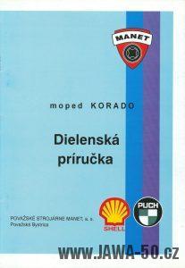 Moped Manet 216 Korado - dílenská příručka