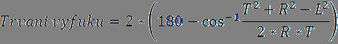 Vztah pro výpočet délky trvání výfuku (časování)