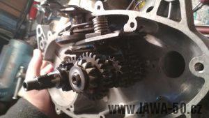 Čtyřstupňová převodovka Jawa 50 pionýr do originálního bloku motoru