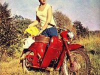 Jawa 555 oskútrovaná - Německo 6/1963