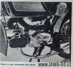 Jawa 05 Ital Jet Mustang - detail motoru