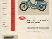 Reklamní prospekt Jawa 05 export